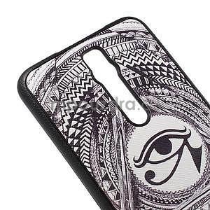 Gélový kryt s imitáciou vrúbkované kože pre Asus Zenfone 2 ZE551ML - egyptské oko - 4