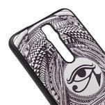 Gélový kryt s imitáciou vrúbkované kože pre Asus Zenfone 2 ZE551ML - egyptské oko - 4/5