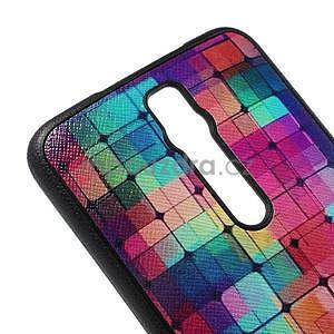 Gélový kryt s imitáciou vrúbkované kože pre Asus Zenfone 2 ZE551ML -  mozaika farieb - 4
