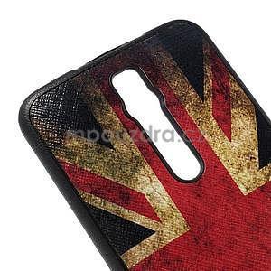 Gélový kryt s imitáciou vrúbkované kože pre Asus Zenfone 2 ZE551ML -   UK vlajka - 4