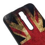 Gélový kryt s imitáciou vrúbkované kože pre Asus Zenfone 2 ZE551ML -   UK vlajka - 4/5