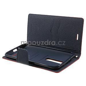Zapínacie PU kožené puzdro na Asus Zenfone 2 ZE551ML - červené - 4