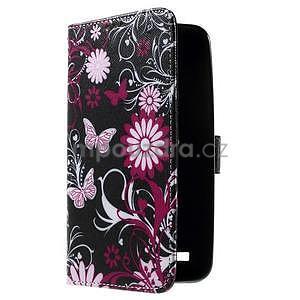Zapínacie peňaženkové puzdro pre Asus Zenfone 2 ZE551ML - motýľik - 4