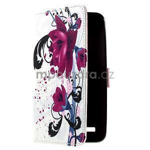 Zapínacie peňaženkové puzdro na Asus Zenfone 2 ZE551ML - kvetiny - 4