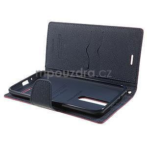 Zapínacie PU kožené puzdro na Asus Zenfone 2 ZE551ML - rose - 4