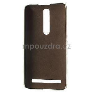 Biely PU kožený / plastový kryt na Asus Zenfone 2 ZE551ML - 4