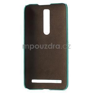 Azúrový PU kožený/plastový kryt na Asus Zenfone 2 ZE551ML - 4