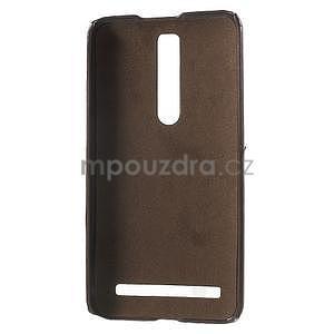 Hnedý PU kožený/plastový kryt pre Asus Zenfone 2 ZE551ML - 4