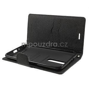 Zapínacie PU kožené puzdro na Asus Zenfone 2 ZE551ML - čierne - 4