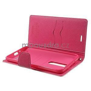 Zapínacie PU kožené puzdro na Asus Zenfone 2 ZE551ML - ružové - 4