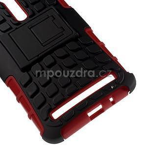Vysoko odolný gélový kryt so stojanom pre Asus Zenefone 2 ZE551ML - červený - 4