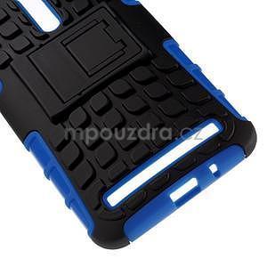 Vysoko odolný gélový kryt so stojanom pre Asus Zenefone 2 ZE551ML - modrý - 4