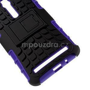 Vysoko odolný gélový kryt so stojanom pre Asus Zenefone 2 ZE551ML - fialový - 4