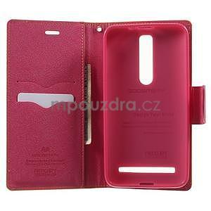 Zapínacie PU kožené puzdro na Asus Zenfone 2 ZE551ML - žlté - 4