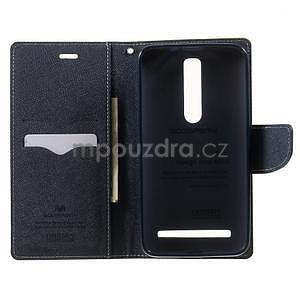 Zapínacie PU kožené puzdro na Asus Zenfone 2 ZE551ML - zelené - 4