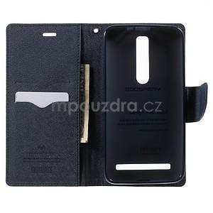 Zapínacie PU kožené puzdro na Asus Zenfone 2 ZE551ML -  fialové - 4