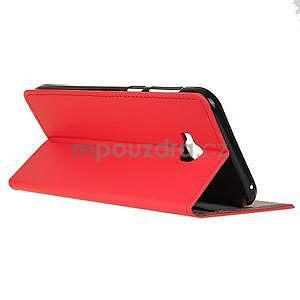 Zapínacie PU kožené puzdro na Asus Zenfone 4 Selfie Pro ZD552KL - červené - 4