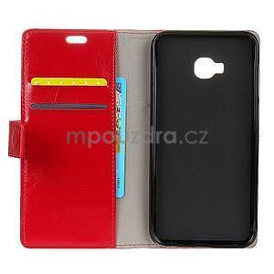 Crazy PU kožené puzdro na mobil Asus Zenfone 4 Selfie Pro ZD552KL - červené - 4