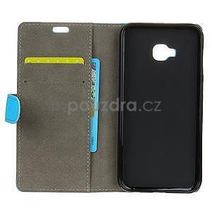 Zapínacie PU kožené puzdro na Asus Zenfone 4 Selfie Pro ZD552KL - modré - 4