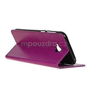 Crazy PU kožené puzdro na mobil Asus Zenfone 4 Selfie Pro ZD552KL - fialové - 4