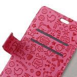 Cartoo knižkové puzdro na Asus Zenfone 4 Selfie Pro ZD552KL - rose - 4/5