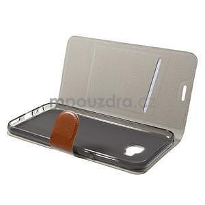 Horse PU kožené puzdro na Asus Zenfone 4 Selfie Pro ZD552KL - hnedé - 4