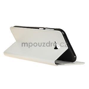 Crazy PU kožené puzdro na mobil Asus Zenfone 4 Selfie Pro ZD552KL - biele - 4