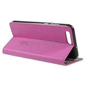 Knižkové PU kožené puzdro na Asus Zenfone 4 ZE554KL - rose - 4