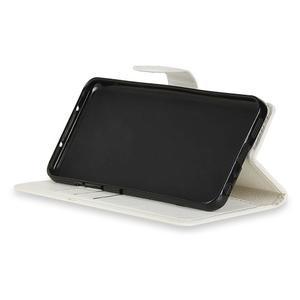 Skiny PU kožené zapínacie puzdro na Asus Zenfone 4 ZE554KL - biele - 4