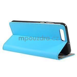 Knižkové PU kožené puzdro na Asus Zenfone 4 ZE554KL - modré - 4