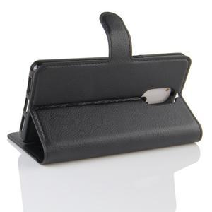 Wallet PU kožené puzdro na Doogee Shoot 1 - čierne - 4