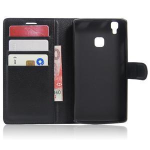 Wallet PU kožené puzdro na Doogee X5 Max/X5 Max Pro - čierne - 4