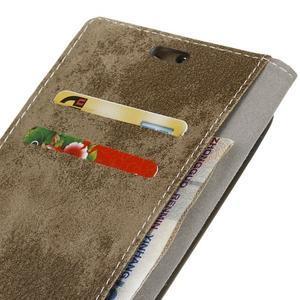 Vintage PU kožené puzdro pre HTC One A9s - jungle - 4