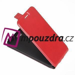 Flipové PU kožené puzdro pre mobil HTC One A9s - červené - 4