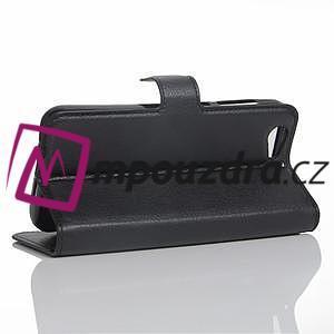 Graines PU kožené puzdro pre HTC One A9s - čierné - 4