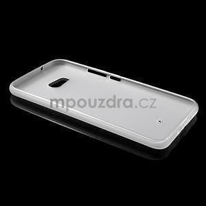Matný gélový obal na mobil HTC U11 - biely - 4