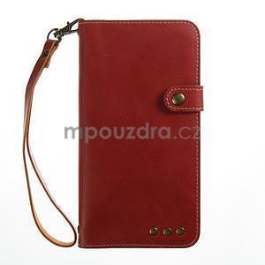 RetroStyle PU kožené puzdro na HTC U11 - červené - 4