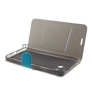 Horse PU kožené zapínacie puzdro na HTC U11 - modré - 4