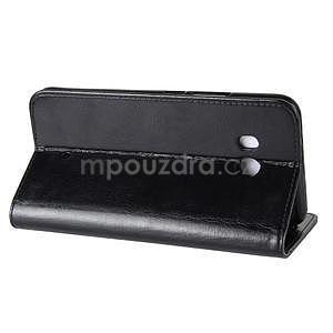 Crazy PU kožené peňaženkové puzdro na mobil HTC U11 - čierne - 4