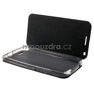 Klopové puzdro na Huawei Ascend G7 - čierne - 4