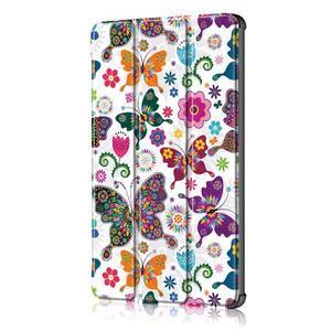Emotive PU kožené puzdro na Huawei MediaPad M5 10 - motýliky - 4