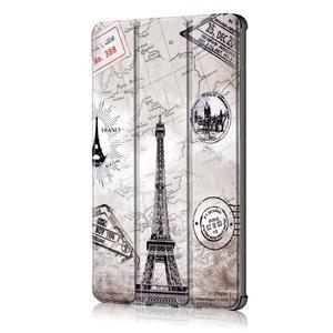 Emotive PU kožené puzdro na Huawei MediaPad M5 10 - Eiffelova veža - 4