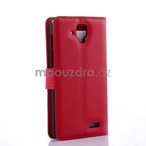 Elegantné kožené puzdro na mobil Lenovo A536 - červené - 4