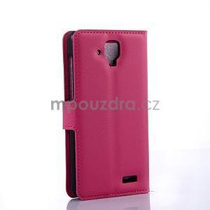Elegantné kožené puzdro na mobil Lenovo A536 - rose - 4