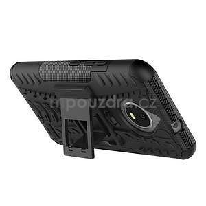 Outdoor odolný obal zo stojanom pre Lenovo Moto E4 - čierny - 4