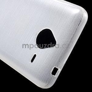 Gélový kryt s brúseným vzorom Microsoft Lumia 640 XL - biely - 4