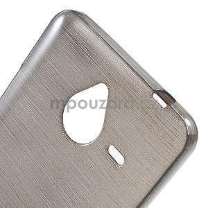 Gélový kryt s brúseným vzorom Microsoft Lumia 640 XL -  šedý - 4