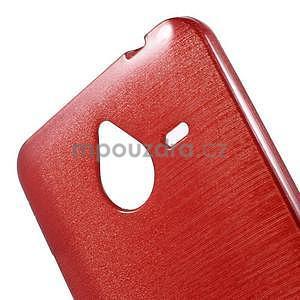 Gélový kryt s brúseným vzorom Microsoft Lumia 640 XL -  červený - 4