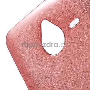 Gélový kryt s brúseným vzorom Microsoft Lumia 640 XL - ružový - 4