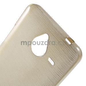 Gélový kryt s brúseným vzorom Microsoft Lumia 640 XL -  champagne - 4